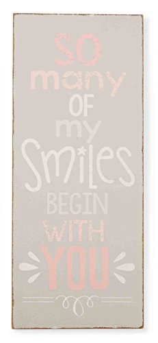 Mud Pie Plaque, So Many Smiles, Pink