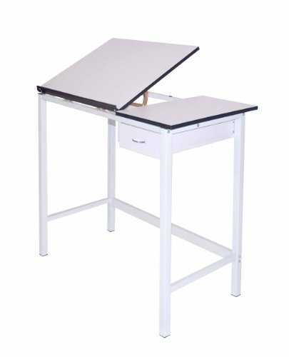 Martin Manchester Art-Hobby Table, White with White Split Top , 20-Inch by 36-Inch Size Surface