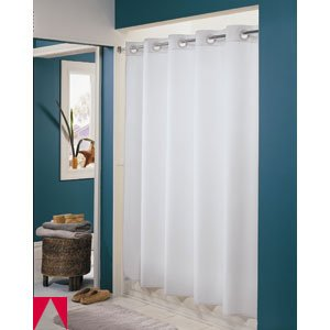 pique diamond shower in amazon hookless liner fabric dp home with white built kitchen curtain com
