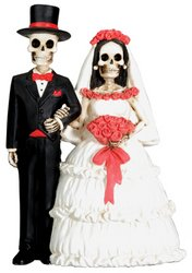 Dod Wedding Couple Skeleton Collectible Sculpture Art
