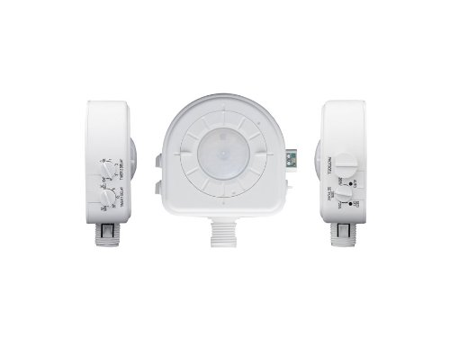 Leviton Osfhd-Itw Dual Relays, Interchangeable Adjustable Lenses, Bright Green Led, 120V/230V/277V/347V, Passive Infrared Occupancy Sensor, White