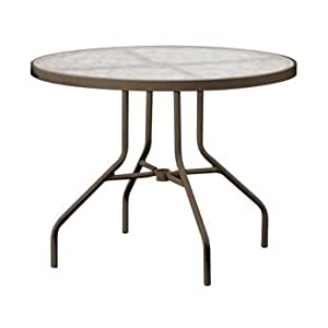 Tropitone Cast Aluminum 36 Round Dining Table With Umbrella Hole Patio Lawn Garden