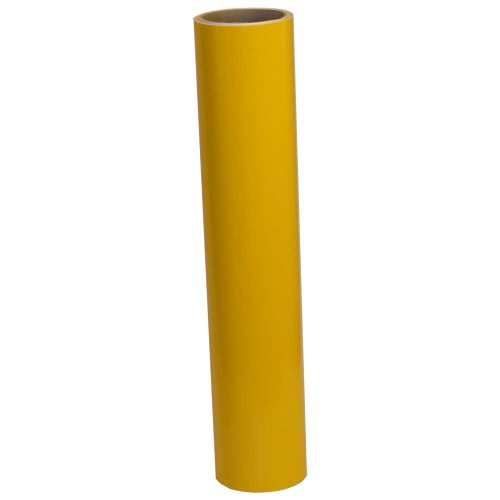 Vinyl Oasis Craft & Hobby Vinyl - Gloss Sunflower Yellow W/ Permanent Adhesive - 12 In. X 10 Ft. Roll front-115394