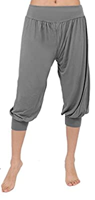 Z-SHOW Women's Short Leggings Yoga Herem Pants Belly Dance Fitness Workout Pants
