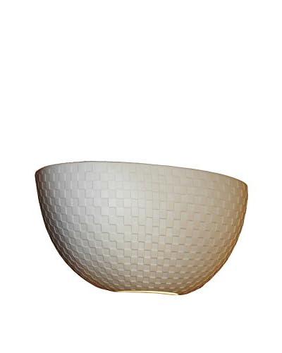 Justice Design Group Limoges 2-Light Quarter Sphere Wall Sconce, Translucent Porcelain