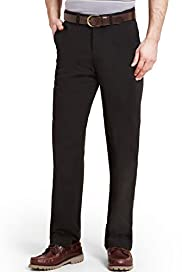 Pure Cotton Straight Leg Regular Fit Chinos