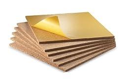 WIDGETCO 3/8 inch Self-Adhesive Cork Wall Tile Squares (6 pack)