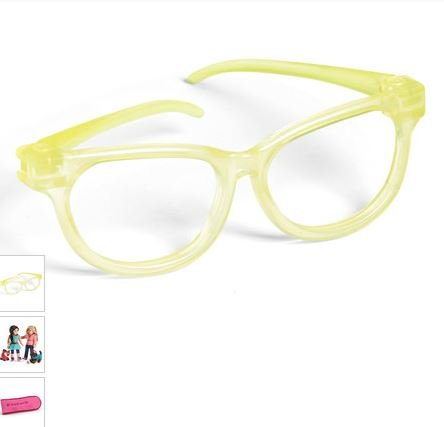 Lime Green Eyeglass Frames : American Girl Lime Eye Glasses with Case Accessory for 18 ...