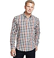 Blue Harbour Supersoft Pure Cotton Gingham Checked Shirt