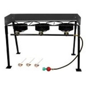 King Kooker CS42 Portable Propane 54,000-BTU Triple-Burner Outdoor Camp Stove