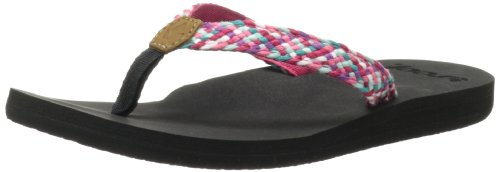 Reef Womens Reef Mallory Thong Sandals R1380BIM Black/Hot Pink/Multi 7 UK, 40 EU