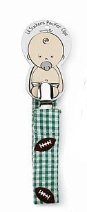 Baby Sports Embroidered Pacifier Clip- FOOTBALL - 174439 - 1