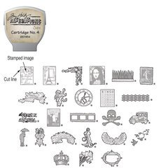 Sizzix eclips Stamp2Cut Cartridge By Tim Holtz Alterations No. 4
