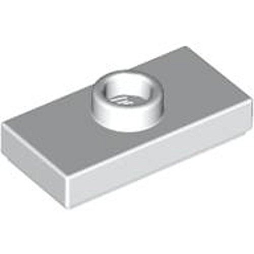 Lego Parts and Pieces: Plate 1X2 W. 1 Knob (White, set of 100) (Lego Knobs compare prices)