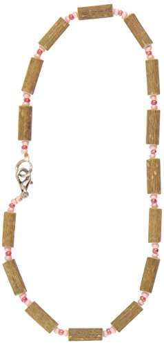 Healing Hazel Hazelwood Baby Necklace, Frosted Pink/Light Matte Pink - 1