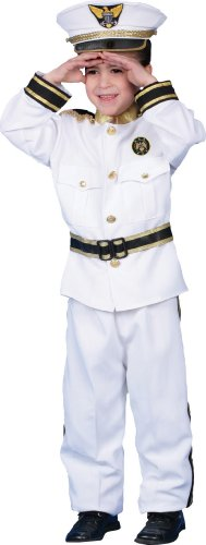 Lets Party Navy Admiral Deluxe Child Costume - Medium 8-10