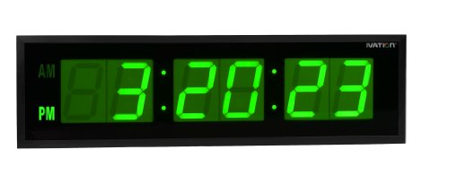DBTech 0124GRN Huge Large Big Oversized Digital LED Clock, Green