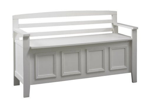 Linon Laredo Storage Bench (Outdoor Bench Storage Wood compare prices)