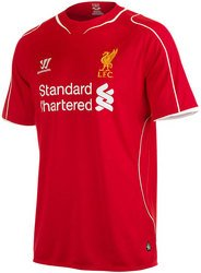 Liverpool FC 2014/15 Kids Home S/S Football Shirt - size MB by Warrior
