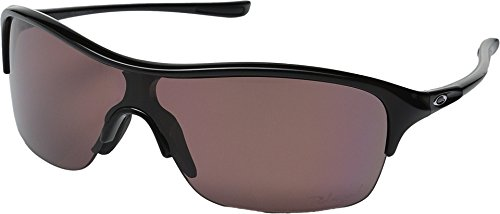 Image of Oakley Women's Be Unstoppable Polarized Polished Black w/ OO Grey Sunglasses