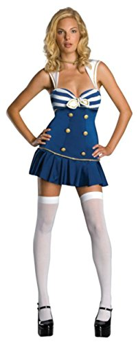 Rubies Womens Uniforms Anchors Away Navy Retro Sailor Theme Party Fancy Costume