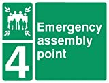 Emergency assembly point - Safe Condition/Fire Exit Sign