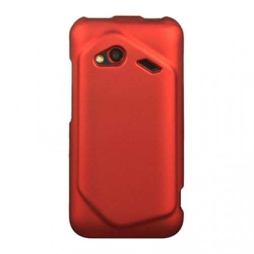 Luxmo Crhtcinc4Grd Unique Durable Rubberized Crystal Case For Hc Droid Incredible 4G Lte - Retail Packaging - Red