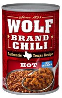Wolf Chili With Out Beans Hot 15 oz. - 12 Unit Pack from ConAgra