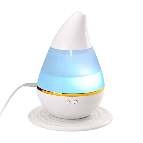 BIAL EX Mini Ultrasonic Humidifiers Cool Mist Humidifiers for Home Office Babyroom, 7 Colors Changing, USB Powered,250ML (Small Cute Humidifier compare prices)