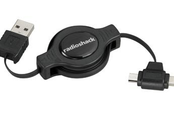RadioShack 3-Ft. Retractable Mini/Micro USB Cable