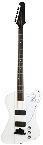 Epiphone Thunderbird Classic IV Bass Guitar with Gibson USA pickups, Alpine White