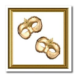 Venice Carnival Masks - 10x10 Iron On Heat Transfer For White Material