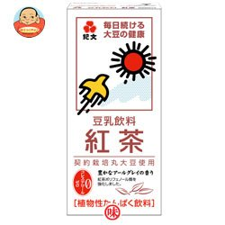 紀文 豆乳飲料 紅茶1000ml紙パック×12(6×2)本入