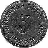 5 Pfennig Imperio Alemán, 1913 A (Jäger: 12) MBC