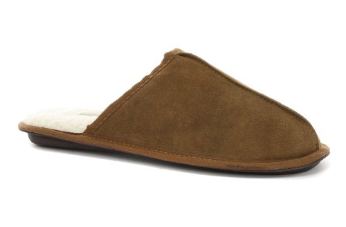 Cheap Dunlop Glen Suede Chestnut Mens Mule Slippers (B005PN7UV4)