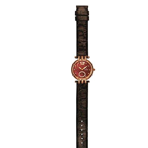 Charmex Pisa Femme 31mm Marron Cuir Bracelet Saphirglas Montre 6128