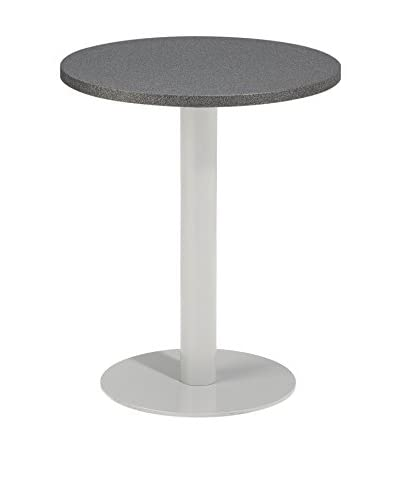 Oxford Garden Travira Round Bistro Table, Powder Coated Aluminum/Alstone
