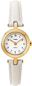 Timex Classic Ladies Classic Watch T2M482P4 With White Leather Strap