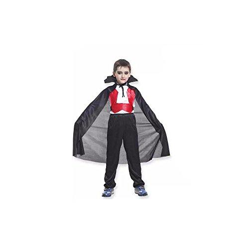 ハロウィン 子供服 吸血鬼  仮装 子供バット バンパイア衣服  コスチューム (XL(130-140cm))