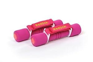 Reebok Softgrip Hand Weights x 2 - Magenta (Pink), 0.5Kg