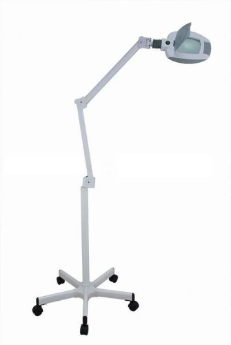 LED Magnifying Lamp and Stand - 3 diopter 6 inch diameter lens
