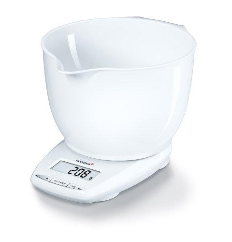 Korona 2050182 Nela Balance de Cuisine Électronique avec Coque en Blanc