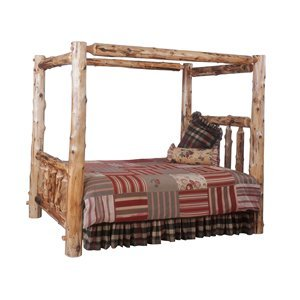Fireside Lodge 10030 / 10060 / 10090 Traditional Cedar Log Canopy Bed Size: King