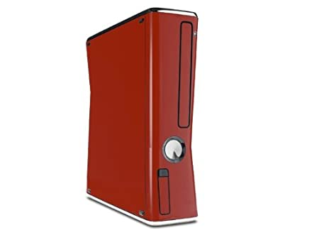 Solids Collection Red Dark Decal Style Skin for XBOX 360 Slim Vertical