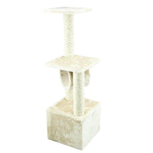 My1stPet Cat Tree Scratching Post, 36″, Beige