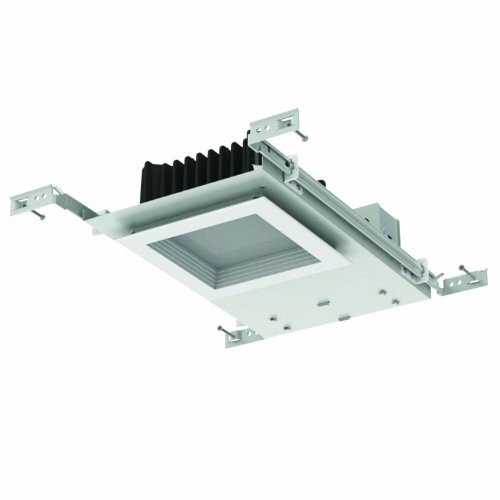 "Sunlite 89055-Su Mks/Ndl/5S/20W/30K Advanced Led 5"" Recessed Downlight For New Construction, 20 Watt, Square White Baffle Trim, 3000K"
