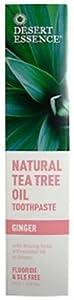 Desert Essence Toothpaste, Natural Tea Tree Oil, Ginger, 6.25-Ounces (Pack of 3)