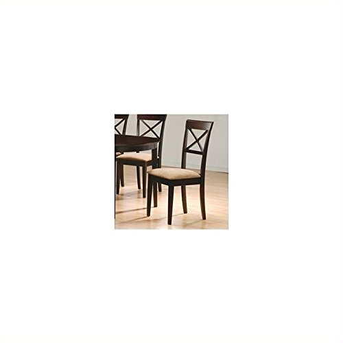 Coaster Hyde Cross Back Dining Chair with Fabric Seat in Cap