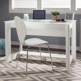 Bush Furniture Aero Writing Desk in Pure White