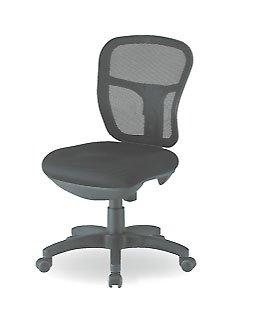 【オフィス家具-TOKIO】【CF-2M】オフィスチェア 肘無し [ブラック]